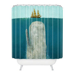 Below Deck Shower Curtain - This fun piece is a great way to add waterproof artwork to your bathroom. Bring modern, nautical life to your shower with the high-quality Below Deck Shower Curtain. Made from 100% woven polyester, it can be machine washed and dried for easy care.