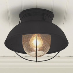 Nantucket Ceiling Light - I like the seeded glass in this fixture, and the finish comes in three colors.