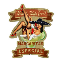 Past Time Signs - Margarita Especial Vintage Metal Sign - This vintage metal sign is hand made with pride in the USA using heavy gauge American steel. The high-resolution graphics are sublimated and powdercoated for a long-lasting durable finish and a great vintage look & feel. This Supersize version is the largest that our machines can handle. The combination of size and graphics are simply incredible. It's perfect for your %customfield:genre% Man Cave, Game Room, Office, or anywhere you want to show love for your favorite things.