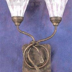 Elk Lighting - Elk Lighting Villa di Eleganza Transitional Wall Sconce X-2/2797 - Along the Mediterranean, the spring flowers absorb the reflection of the setting sun off the royal blue sea. The glass in this collection captures that brilliant amber hue. The focal point of each item is the frosted hand tooled glass, complemented by delicate metal works in a dramatic balance. Hand forged tassels highlight this Olde World finish and frosted honey amber glass.