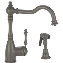 Blanco - Blanco Grace Kitchen Faucet - This Victorian-inspired design may look delicate, but shows its strength when it comes to performance. With color-coded hot and cold supply lines, this faucet will surely exceed your expectations.