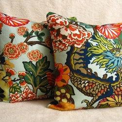 Chiang Mai Dragon Pillows - Aquamarine - Willa Skye