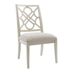 Stanley Furniture - Wood Side Chair - A recurring trellis motif adorns the back of the Wood Side Chair.
