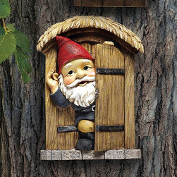 Design Toscano - Design Toscano The Knothole Gnomes Garden Welcome Tree Sculpture - Door Gnome Mu - Shop for Wall Art from Hayneedle.com! About Design Toscano:Design Toscano is the country's premier source for statues and other historical and antique replicas which are available through the company's catalog and website. Design Toscano's founders Michael and Marilyn Stopka created Design Toscano in 1990. While on a trip to Paris the Stopkas first saw the marvelous carvings of gargoyles and water spouts at the Notre Dame Cathedral. Inspired by the beauty and mystery of these pieces they decided to introduce the world of medieval gargoyles to America in 1993. On a later trip to Albi France the Stopkas had the pleasure of being exposed to the world of Jacquard tapestries that they added quickly to the growing catalog. Since then the company's product line has grown to include Egyptian Medieval and other period pieces that are now among the current favorites of Design Toscano customers along with an extensive collection of garden fountains statuary authentic canvas replicas of oil painting masterpieces and other antique art reproductions. At Design Toscano attention to detail is important. Travel directly to the source for all historical replicas ensures brilliant design.