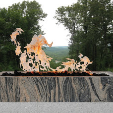 Contemporary Fire Pits by DUNIS STONE, INC.