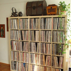 Eclectic  Ikea Expedit for LP records