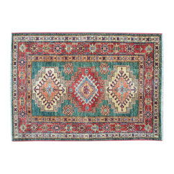 1800 Get A Rug - Tribal Design Super Kazak Hand Knotted 100% Wool Oriental Rug Sh15301 - Our Tribal & Geometric Collection consists of classic rugs woven with geometric patterns based on traditional tribal motifs. You will find Kazak rugs and flat-woven Kilims with centuries-old classic Turkish, Persian, Caucasian and Armenian patterns. The collection also includes the antique, finely-woven Serapi Heriz, the Mamluk Afghan, and the traditional village Persian rug.