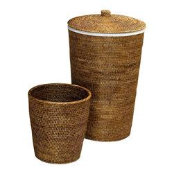Modo Bath - Harmony 105 Set of Two Baskets Round in Rattan Dark - Harmony 105 Set of Two Baskets Round in Rattan Dark