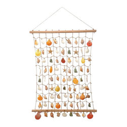 "Large Shell Wall Plaque - The shell wall plaque measures 26"" x 30"". This item features over 81 different seashells attached rope. It will add a definite nautical touch to whatever room it is placed in and is a must have for those who appreciate high quality nautical decor. It makes a great gift, impressive decoration  will be admired by all those who love the sea."