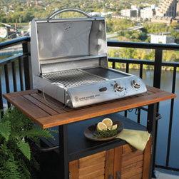 Electric Convection Table Top Grill - Do you live in a condo or apartment that makes outdoor grilling dangerous? This is a great alternative to propane grills. Stick this on a table and plug it into a standard socket. You're cooking in no time!