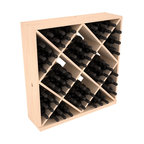Wine Racks America - Solid Diamond Wine Storage Cube in Pine, (Unstained) - Elegant diamond bin style bottle openings make for simple loading of your favorite wines. This solid wooden wine cube is a perfect alternative to column-style racking kits. Double your storage capacity with back-to-back units without requiring more access area. We build this rack to our industry leading standards and your satisfaction is guaranteed.