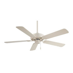 """Minka-Aire - Minka-Aire Contractor 52"""" Bone White Ceiling Fan - F547-BWH - This Ceiling Fan is part of the Contractor 52"""" Collection and has a Bone White Finish."""