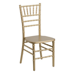 Flash Furniture - Flash Furniture Flash Elegance Supreme Gold Wood Chiavari Chair - SZ-GOLD-GG - If you've been to a wedding, chances are you've sat in a Chiavari chair. Chiavari chairs have become a classic in the event industry and are also highly popular in high profile entertainment events. This chair is used in all types of elegant events due to its lightweight, stacking capabilities and elegant design. Keep your guests comfortable with optional cushions and keep your chairs beautiful with optional chair covers. [SZ-GOLD-GG]