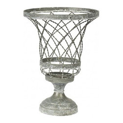 Aiden Gray - Aiden Gray Planter Twisted Wire AY - Product Details