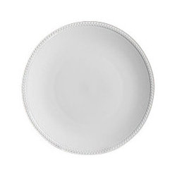 """L'Objet - L'Objet Soie Tressee White Dessert Plate - The braid made modern, Soie Tressee offers a distinct, contemporary take on an ancient shape. Limoges porcelain available in White, hand-gilded 24K Gold, or Platinum. Limoges Porcelain White Dimensions: 8.5"""" L'Objet is best known for using ancient design techniques to create timeless, yet decidedly modern serveware, dishes, home decor and gifts."""