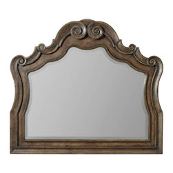Hooker Furniture - Mirror - Bring a sense of casual opulence into your home with this large scale mirror. Whether you choose to hang it in the living room, dining room or bedroom, its relaxed, rustic finish will pair flawlessly with your chosen decor.