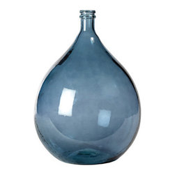 French Glass Olive Jar,  Blue - These jars are fantastic to bring some color to your kitchen countertop.