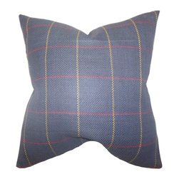 "The Pillow Collection - Maillol Plaid Pillow Blue - This decor pillow is the perfect accent piece for your couch, bed or seat. Designed with a plaid pattern in shades of yellow and red against a blue background, this throw pillow is versatile and extra comfy. Toss a few of this 18"" pillow anywhere inside your home to create a modern and homey interior. Made of 100% high-quality cotton fabric. Hidden zipper closure for easy cover removal.  Knife edge finish on all four sides.  Reversible pillow with the same fabric on the back side.  Spot cleaning suggested."