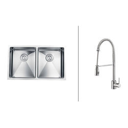Ruvati - RVC2316 Stainless Steel Kitchen Sink and Polished Chrome Faucet Set - Ruvati sink and faucet combos are designed with you in mind. We have packaged one of our premium 16 gauge stainless steel sinks with one of our luxury faucets to give you the perfect combination of form and function.
