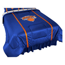 Sports Coverage - NBA New York Knicks Comforter Sidelines Basketball Bedding, Twin - Features: