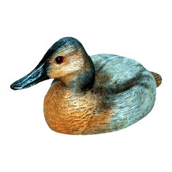 Craft-Tex - Decoys 10 in. Canvasback Hen - Antique and vintage Water Fowl and Decoy reproductions. Award winning designs. Exact reproduction of a Master Carvers original. Hand cast in a variety of mediums to insure the exact detailing of the original wood carving. Crafted by North Carolina artists with attention to detail. Made in USA. Made of pecan shell resin. 1-Year warranty
