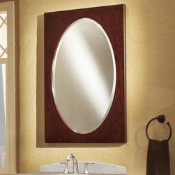 "24"" Urban Loft Vanity Mirror - Merlot - Designed to complement the Urban Loft Vanity Cabinet.  This portrait mirror features a Merlot finish and will beautifully accent any room."