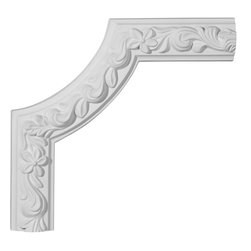 """Ekena Millwork - 9 5/8""""W  x 10""""H x 1""""P Sussex Panel Moulding Corner - 9 5/8""""W  x 10""""H x 1""""P Sussex Panel Moulding Corner. Our beautiful panel moulding and corners add a decorative, historic, feel to walls, ceilings, and furniture pieces. They are made from a high density urethane which gives each piece the unique details that mimic that of traditional plaster and wood designs, but at a fraction of the weight. This means a simple and easy installation for you. The best part is you can make your own shapes and sizes by simply cutting the moulding piece down to size, and then butting them up to the decorative corners. These are also commonly used for an inexpensive wainscot look."""