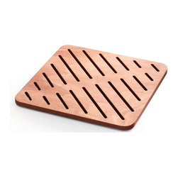 WS Bath Collections - Atlantica Shower Mat In Marine Plywood - Atlantica 72271 by WS Bath Collections Shower Mat in Marine Plywood - Okume Wood, Shower Mat Okume Wood, Made of Solid Okume Wood Water Resistant For Use Inside or Outside of Shower, Made in Italy
