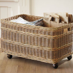 Jacquelyne Recycling Bin Basket - What's better than a divided basket on wheels? It's such a stylish way to recycle.