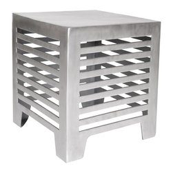Allan Copley Designs - Allan Copley Designs Jersey 18 Inch Square End Table in Matte Cast Aluminum - The Jersey End Table by Allan Copley Designs is a uniquely functional and versatile piece for your home's decor. The Matte Cast Aluminum allows for indoor or outdoor use with a sophisticated aesthetic that upgrades it surroundings. What's included: End Table (1).