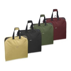 """Wallybags - WallyBags 45-Inch Slim Garment Bag - Business or pleasure, this 45"""" slim garment bag with shoe and accessory pockets is ideal for short trips while keeping clothes neat and wrinkle-free. Made from a durable, lightweight twill fabric that is water-repellent."""