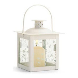 Small White Lantern - These are very popular for your home, just put a candle in and you add beauty to any room in your home.