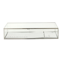 Arteriors Home - Arteriors Home Jedd Large Glass Document Box - Arteriors Home 6415 - Arteriors Home 6415 - Rectangular glass display document box with polished nickel borders and hinges. Available in small and large sizes.