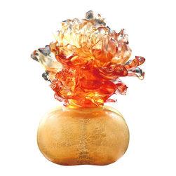 LiuliGongfang - LiuliGongfang Crystal Peony Grandeur - A Vase Of Riches - LiuliGongFang