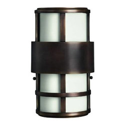 Hinkley - Hinkley 1908MT Saturn 2 Light Outdoor Wall Sconce in Metro Bronze 1908MT - Solid Brass Construction with Cased Opal Etched Glass Candelabra Base (Bulb Not Included)ADA Compliant: Yes Back Plate Height: 12 Back Plate Width: 5-3 4 Bulb Type: Incandescent Collection: Saturn Dark Sky: No Extension: 4 Finish: Metro Bronze Height: 12-1 2 Material: Stainless Steel Number of Lights: 2 Photocell: No Socket 1 Base: CANDLE Socket 1 Max Wattage: 40 Style: Contemporary Modern Suggested Room Fit: Outdoor TTO: 6-1 4 Voltage: 120 Wattage: 40 Weight: 4 lbs Width: 7-1 4ADA Compliant Energy Saving Energy Star certified options available