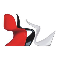 Vitra - Panton Chair Classic (1959-60) by Vitra - A perennial favorite of modern furniture lovers, the Vitra Panton Chair Classic by Verner Panton was the result of many years of experimentation to try and create a chair molded in one solid piece. This model is made out of hard foam plastic finished in a glossy lacquer. Designed in 1959-60, it went into production with Vitra in 1967. And it has never gone out of style.Founded in Switzerland in 1950, Vitra produces intelligent and inspiring furniture and accessories for the home, office and other public spaces. Ever mindful of the importance of sustainability in design, Vitra creates furnishings with high quality and versatile style that ensures functional and aesthetic enjoyment for the long term.The Vitra Panton Chair Classic by Verner Panton is available with the following:Details:Hard foam plastic shellGloss lacquer finishDesigned by Verner Panton, 1959/60Options:Color: Black, Red, or White.Shipping:This item usually ships within 3-5 business days.