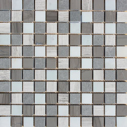 Tilesbay.com - Sample of 1x1 Honed Mosaic Arctic Storm Marble Tile - Arctic Storm 1x1 Honed 12 in. x 12 in. Marble Mesh-Mounted Mosaic. Use this on Floor and Wall Tile to incorporate a distinctive, contemporary aesthetic enhancement into kitchens, bathrooms and more. This mosaic sheet is comprised of marble mosaics that combine a blend of white and gray tones with a smooth, honed finish to create a great complement for your decor. This tile is great for a wide variety of commercial and residential projects.  Please keep in mind that a typical size of sample is 4x4 or 6x6.