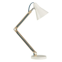 Rex Task Lamp - Every office deserves a chic and functional desk lamp, and this model fits the bill. The dose of color running down the side makes it that much more special.