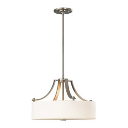Feiss - Feiss F2404/3BS Sunset Drive 3 Light Brushed Steel Chandelier - Finish: Brushed Steel