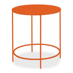 Slim Round End Tables - I don't think there's a better side table for a child's room than this simple shape that comes in a huge array of bright and pastel colors.