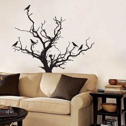 Stark Tree with Birds Decal