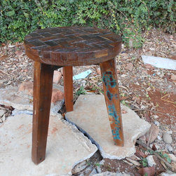 Reclaimed Old Wood Stools For Outdoor Style - Please noted, all of products can be customized in size and finishings. The price is changed depend on the customizations.