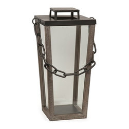 IMAX CORPORATION - Leonard Industrial Lantern - Large - Modern lines and a simple chain handle give the Leonard Industrial lantern an austere presence, adding a subtle ambiance when lit. Find home furnishings, decor, and accessories from Posh Urban Furnishings. Beautiful, stylish furniture and decor that will brighten your home instantly. Shop modern, traditional, vintage, and world designs.