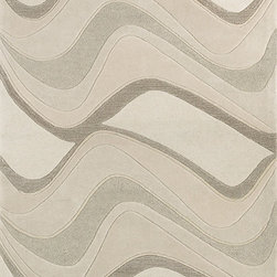 KAS - KAS Eternity 1085 Waves (Ivory) 5' x 8' Rug - Step right into our world and experience the different textures of life in our Eternity Collection. Hand-tufted in India of 100% quality wool, these rugs are woven using multi-textured wool, a versatile color palette and a Hi/Lo effect, bringing modern simplicity into our lives. The combination of timeless colors and a variety of textures will create an everlasting presence in any room while setting the foundation for any decorating style. No fringe.