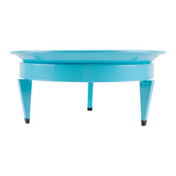 Steel Life - Mezzo Mod Dish, Sky (Blue) - It's a planter, it's a fruit bowl — it's really just perfect for anything you'd like to prop up on a pedestal. Pair this colorful dish with it's larger counterparts for a multilevel display, or use on its own as a centerpiece. Either way, it brings presence to that whatever you choose to fill it with.