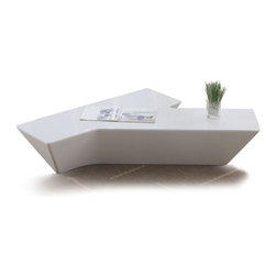 Modern glossy white coffee table Palermo - Coffee table Palermo features very simple, but original and exiting design at the same time. It is made of glossy lacquered wooden veneers on a wooden frame. Therefore it is very sturdy and eco-friendly.