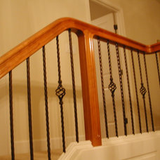 Traditional Staircase by Master Woodworks inc