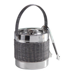 Zodax - Zodax Woven Cane Ice Bucket with Ice Tong - Zodax - Wine Racks - IN5351 - Woven Cane Ice Bucket with Ice Tong