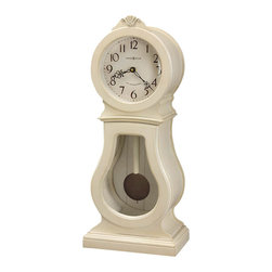 Howard Miller - Howard Miller Audrey 84th Anniversary Edition Mantel Clock in Coconut - Howard Miller - Mantel / Table Clocks - 635163 - For over 70 years Howard Miller has understood the need to create products that are steeped in quality and value and to never expect anything less than the best. No matter the price of the purchase you have Howard Miller's assurance of quality that is reflected in both the products they create and in the people whose artistic talents they rely on to manufacture them. Incomparable workmanship. Unsurpassed quality. A quest for perfection.