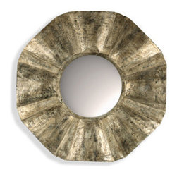 McCalla Metallic Mirror - Aidan Gray - This lovely mirror will add a rustic yet refined touch to your wall.